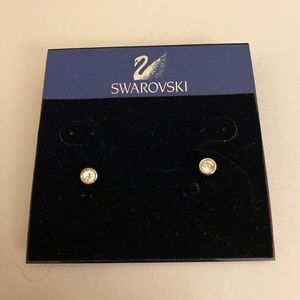 NWT Swarovski Timeless Stud Earring- 14k gold post